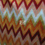 Chevron Zig Zag Microfleece Fabric Orange