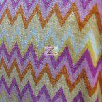Chevron Zig Zag Microfleece Fabric Pink