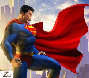 Wholesale Superman DC Comics Polar Fleece Fabric