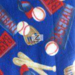 Wholesale Baseball Polar Fleece Fabric Ball Bat Blue