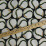 Wholesale Baseball Polar Fleece Fabric Black