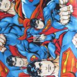 Superman DC Comics Polar Fleece Fabric Allover