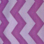 Zig Zag Chevron Polar Fleece Fabric Purple Lavender