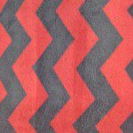 Zig Zag Chevron Polar Fleece Fabric Red Black