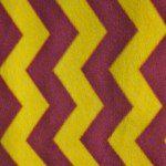 Zig Zag Chevron Polar Fleece Fabric Yellow Burgundy