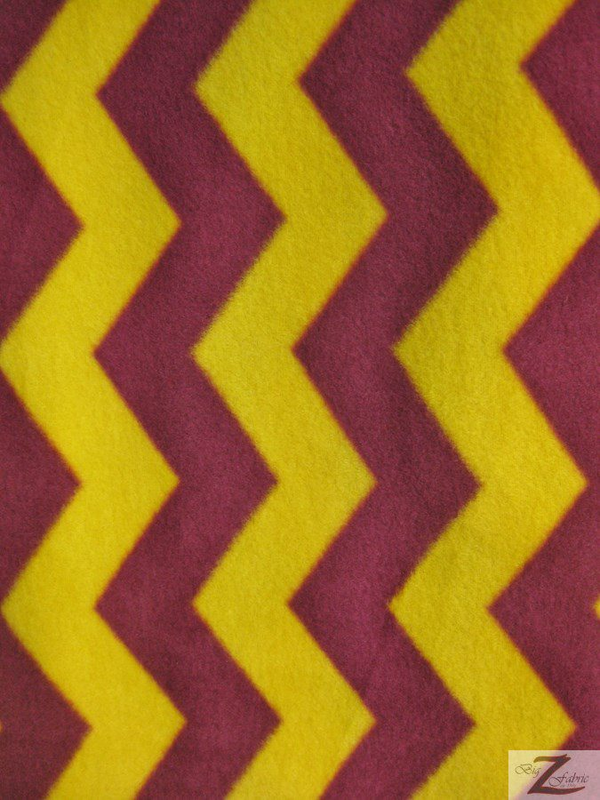 Wholesale Zig Zag Chevron Polar Fleece Fabric | Wholesale Polar ...