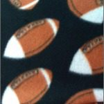 Wholesale Football Polar Fleece Fabric Black