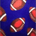 Wholesale Football Polar Fleece Fabric Blue
