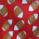 Wholesale Football Polar Fleece Fabric Red