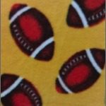 Wholesale Football Polar Fleece Fabric Yellow