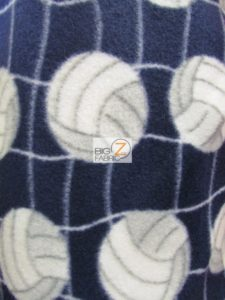 Wholesale Volleyball Polar Fleece Fabric Navy 2