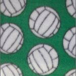 Volleyball Polar Fleece Fabric Green