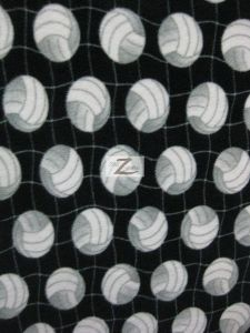 Volleyball Polar Fleece Fabric Net Black