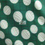 Volleyball Polar Fleece Fabric Net Green