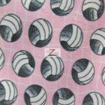 Volleyball Polar Fleece Fabric Net Pink