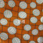 Volleyball Polar Fleece Fabric Net Orange