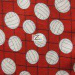 Volleyball Polar Fleece Fabric Net Red