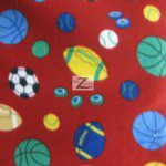 Fleece Printed Fabric Sports Mix All Sports Red 2