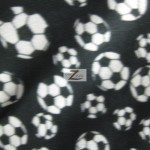 Soccer Print Polar Fleece Fabric Black