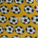 Soccer Print Polar Fleece Fabric Yellow