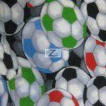 Wholesale Soccer Football Polar Fleece Fabric Rainbow