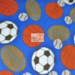 Wholesale Sports Mix Polar Fleece Fabric Assorted Blue