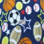 Wholesale Sports Mix Polar Fleece Fabric Assorted Navy