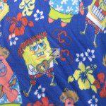 SpongeBob SquarePants Polar Fleece Fabric Hawaiian