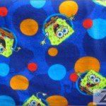 SpongeBob SquarePants Polar Fleece Fabric Polka Dots