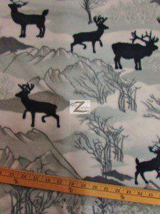Baum Textile Mills Fleece Printed Fabric Winter Deer