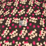 Wholesale Skull & Bones Print Polar Fleece Fabric Bows