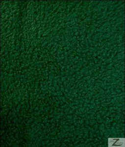 Wholesale Solid Polar Fleece Fabric Hunter Green