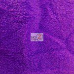 Wholesale Solid Polar Fleece Fabric Lakers Purple