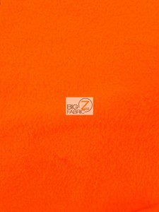 Wholesale Solid Polar Fleece Fabric Orange