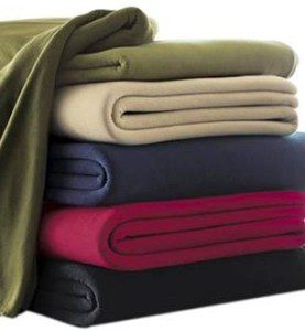 Solid Fleece Fabric Warm Blanket