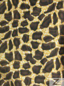 Animal Rhino Printed Fleece Fabric