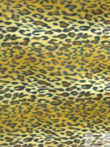 Fleece Printed Fabric Animal Gold Snow Leopard Roll