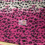 Fleece Printed Fabric Animal Pink Snow Leopard Roll