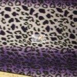 Fleece Printed Fabric Animal Purple Snow Leopard Roll