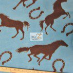 Horseshoe Horses Wholesale Fleece Fabric
