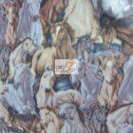 Stampede Horses Wholesale Fleece Fabric