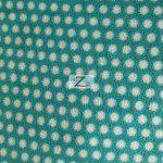 Wholesale Polka Dot Fleece Fabric Aqua White Dots
