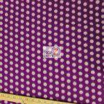 Wholesale Polka Dot Fleece Fabric Purple White Dots