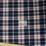 Wholesale Tartan Plaid Fleece Fabric Blue
