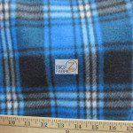 Wholesale Tartan Plaid Fleece Fabric Blue Black White