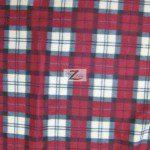 Wholesale Tartan Plaid Fleece Fabric Dark Red Cream Gray