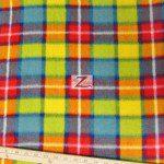Wholesale Tartan Plaid Fleece Fabric Pink Yellow Green