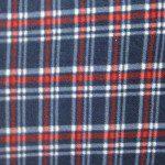 Wholesale Tartan Plaid Fleece Fabric Red Blue White