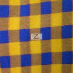 Wholesale Tartan Plaid Fleece Fabric Yellow Purple