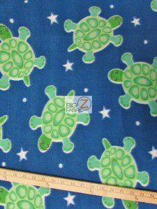 Blue Star Turtles Fleece Fabric
